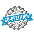 co-opetition stamp sign seal vector image vector image