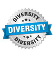 diversity round isolated silver badge vector image vector image