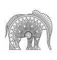 drawing zentangle for elephant adult coloring page vector image vector image