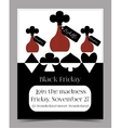 Drink Me Bottle Black Friday Banner Postcard vector image vector image