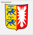 emblem of schleswig-holstein province of germany vector image