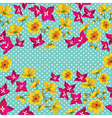 Floral pattern with beautiful flowers vector image vector image