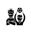 football fans black icon sign on isolated vector image