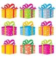 gifts box vector image vector image