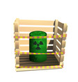 green barrel with radioactive waste vector image