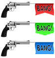 Guns with Bang Flags vector image