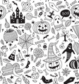 halloween seamless pattern ornamental style vector image