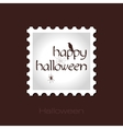 Happy Halloween stamp with spider web raven vector image vector image