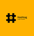 hashtag symbol house logo icon design template vector image