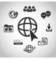 Internet design online icon Technology concept vector image vector image