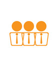 isolated group of businessmen icon vector image vector image