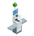 isometric self-service cashier or terminal point vector image
