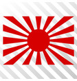 japanese rising sun eps icon vector image