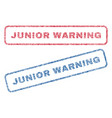 junior warning textile stamps vector image vector image
