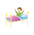 kid wake up in morning vector image