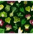 Leaf vegetable salad greens seamless pattern vector image vector image