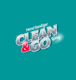 logo clean go sanitizer spray antiseptic vector image vector image
