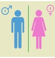 man and woman signs vector image vector image