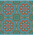 mandala doodle drawing colorful seanless ornament vector image vector image