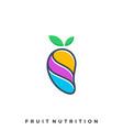 mango color template vector image