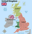 map united kingdom with counties vector image