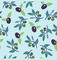 olive branch background vector image vector image