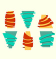 original ribbon set ribbons vector image vector image