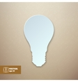 Paper Light Bulb isolated vector image vector image