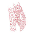 patterned owl zentangle style vector image vector image