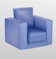 Purple armchair vector image