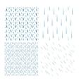 Rain drops pattern set vector image vector image