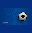 realistic football on blue background football vector image vector image