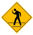 Road sign crosswalk vector image vector image