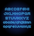 Round Neon Font vector image vector image
