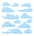 set cartoon cloud on white background vector image vector image