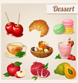 set of different food icons dessert vector image vector image