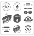 set vintage bakery labels and design elements vector image