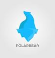 silhouette polar bear logo designs vector image