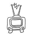simple black and white retro tv 1 vector image vector image