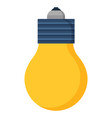simple light bulb illuminates room idea symbol vector image
