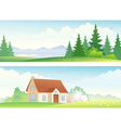 Spring and summer banners vector image
