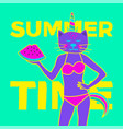 summer time art minimal project vector image