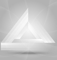 triangle background vector image vector image