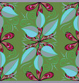 tropical leaves seamless pattern on painted vector image