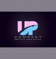 up alphabet letter join joined letter logo design vector image vector image