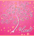 valentines day background with bright lights vector image vector image