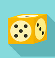 vegas dice icon flat style vector image vector image