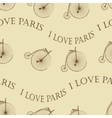 Vintage Bicycle Paris seamless vector image vector image