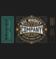 vintage labels for whiskey or other products vector image vector image