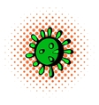 Virus icon comics style vector image vector image